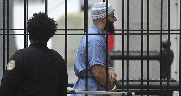 Adnan Syed enters Courthouse East in Baltimore before a hearing Feb. 3, 2016. (AP file photo: The Baltimore Sun)