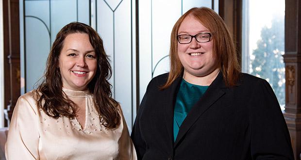 Amie E. Penny Sayler, left, and Jessica L. Kometz