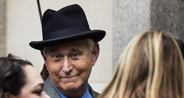 Roger Stone, a longtime confidant of President Donald Trump, waits Nov. 12 outside the federal court in Washington. (AP file photo)