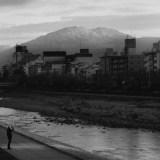 初日の中の比叡山(2019年元旦)