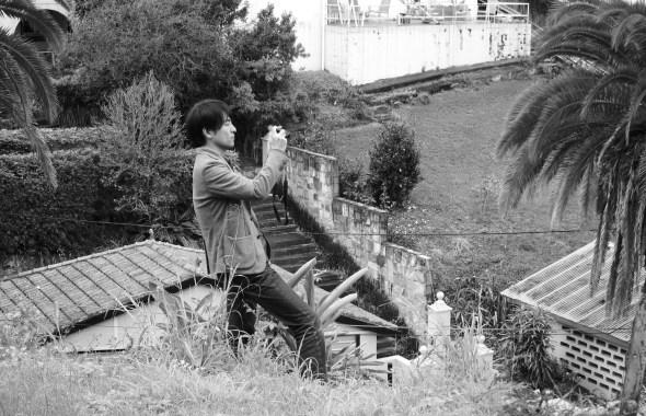 Shimada san shooting the site.