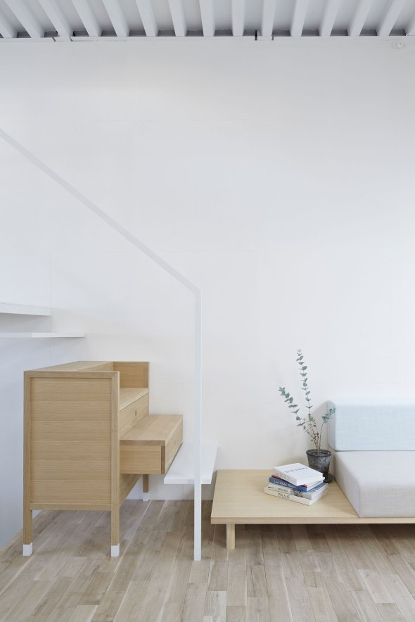 Yo Shimada's chest of drawers stair furniture.