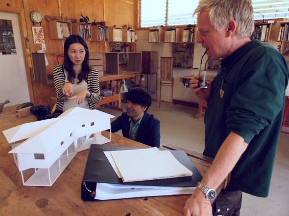 Ishii san explains the design to Roy.