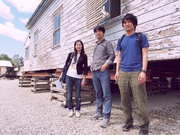 Three members of the team who do speak the same language: Ishii san and Shimada san from Tato Architects, and Yohei Omura from Phorm.