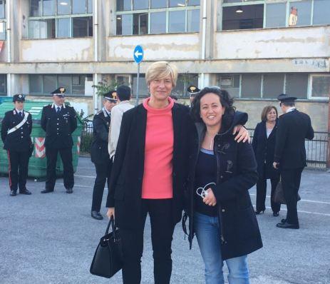 Cristina Buttarelli e il ministro Roberta Pinotti
