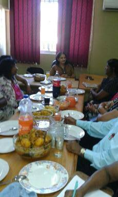 Christmas Lunch With Chairpersons Of Senior Citizens At The Phoenix MF Office