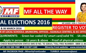 2016 March Local Government Elections – Register to vote