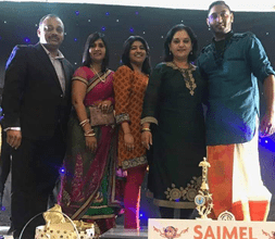 MINORITY FRONT SUPPORTS LEOPARD PAW PRODUCTIONS FIRST SINGING REALITY SHOW 'RISING STARS' GRAND FINALE: Pictured: (left to right) Minority Front NEC member Viresh Bhana with his wife, Shanitha Bhana, NEC member Priyanka Nunkumar, Leader of the Minority Front, Hon Shameen Thakur-Rajbansi with the Winner Dr Rishalan Govender of the Rising Stars Singing Competition