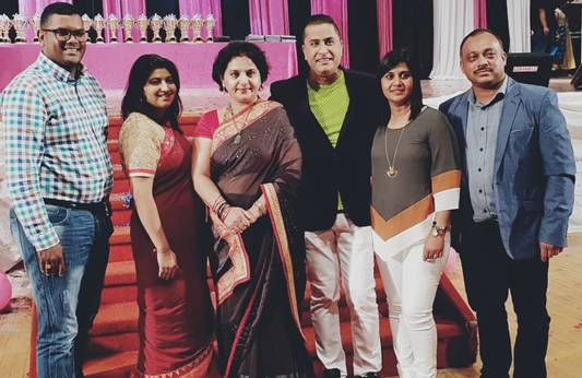 Pictured (left to right) : Minority Front Party Councillor Jonathan Annipen, Minority Front NEC Member Priyanka Nunkumar, Minority Front Leader Hon Shameen Thakur-Rajbansi, Roshan Singh of Roshan Singh Productions , Shanitha Bhana and Viresh Bhana