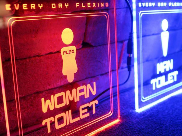 화장실안내문 아크릴LED간판 아크릴LED사인 055 LED아크릴사인 아크릴네온사인 아크릴LED LED사인 LED아크릴