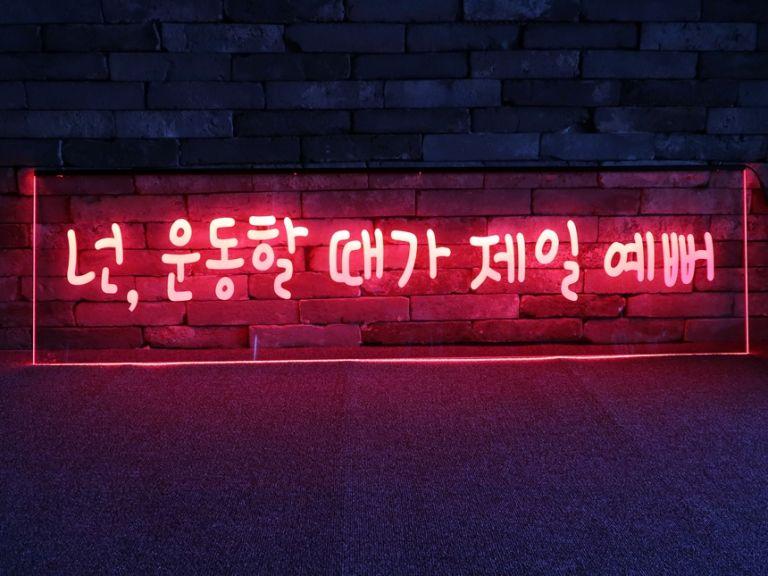 LED네온사인 붙이는조명 루프탑조명,무드등제작, 주문제작무드등 LED아크릴간판 LED아크릴사인 009 네온사인 창문간판