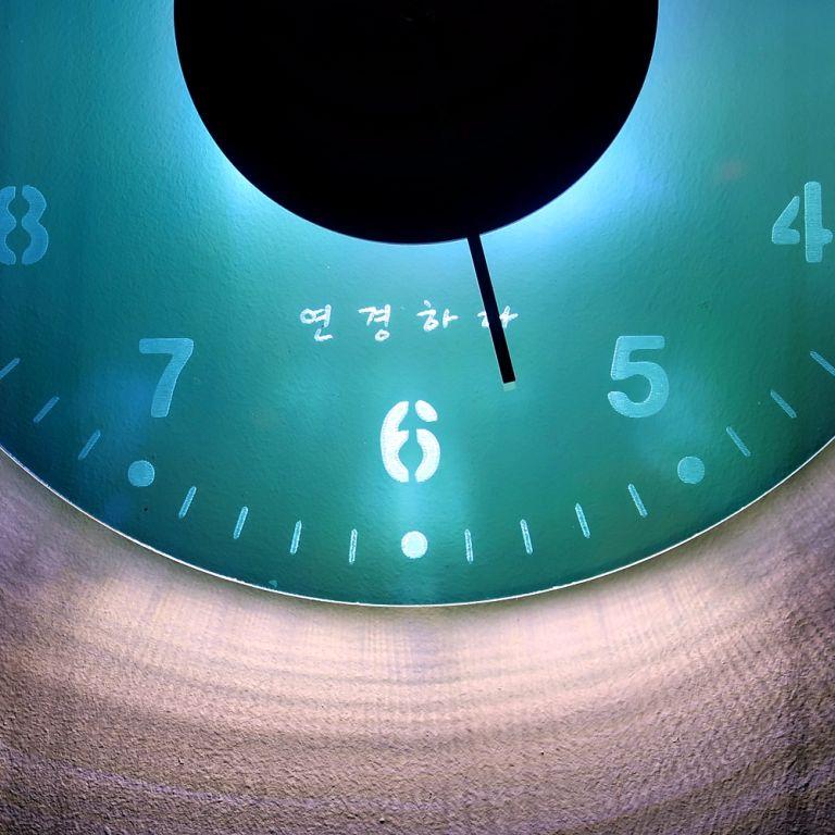 오로라 시계 조명시계 투명시계 002 다이크로익 벽시계 시계선물 시계조명 주문제작시계