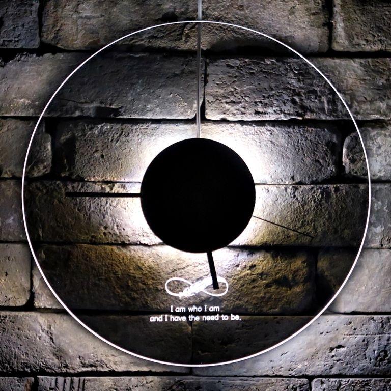 오로라 시계 조명시계 투명시계 010 다이크로익 벽시계 시계선물 시계조명 주문제작시계