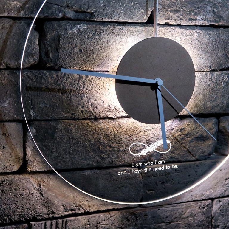 오로라 시계 조명시계 투명시계 011 다이크로익 벽시계 시계선물 시계조명 주문제작시계