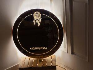 후광간판 LED거울 거울간판 LED조명거울 010 셀카존 포토존 미러사인 거울후광 후광사인 거울디자인