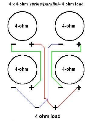 Parallel 4 Ohm Speaker Wiring Diagram, Parallel, Free