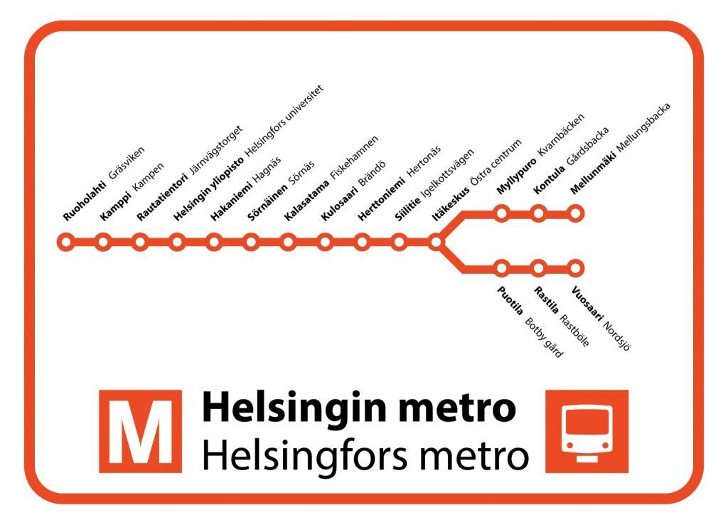 Metro Map Minor Postcards