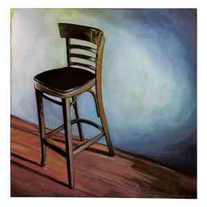 painting of a tall bar stool