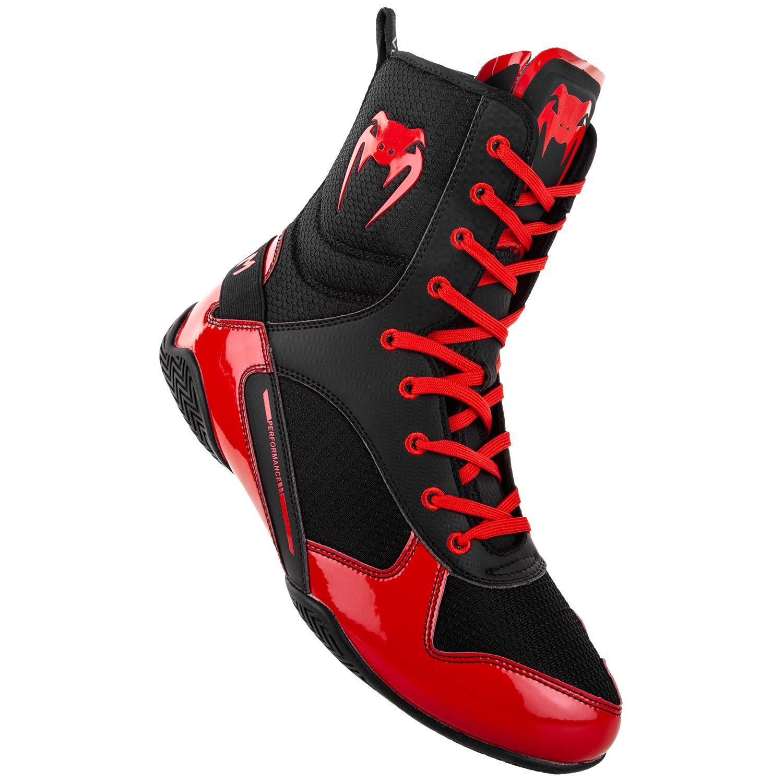 Venum Elite Boxing Shoes Boots Black Red | Minotaur Fight Store