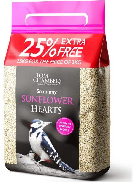 scrummy sunflower hearts 25kg tom chambers