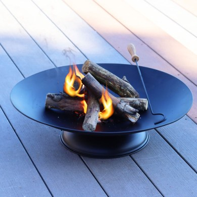 Firepit Bowl With Round Base