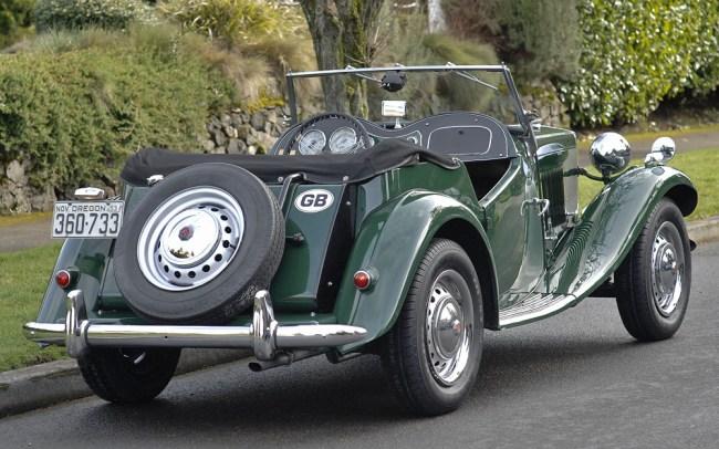1953MGTD rear