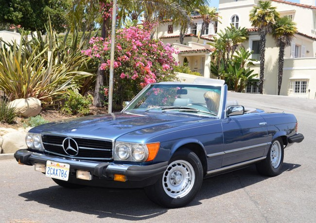 81 Mercedes Benz 500SL
