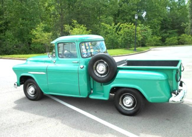 55 Chevy 3100 rea