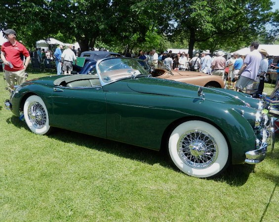 A beautifully restored 1959 Jaguar XK150