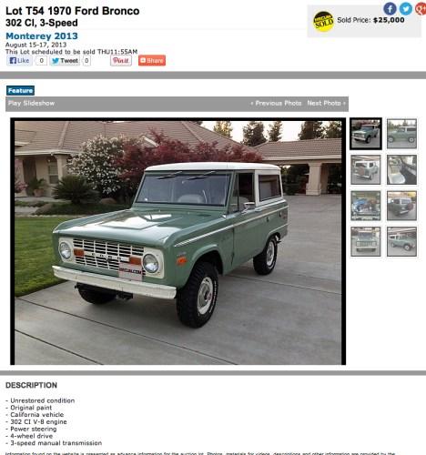 1970 Ford Bronco V8