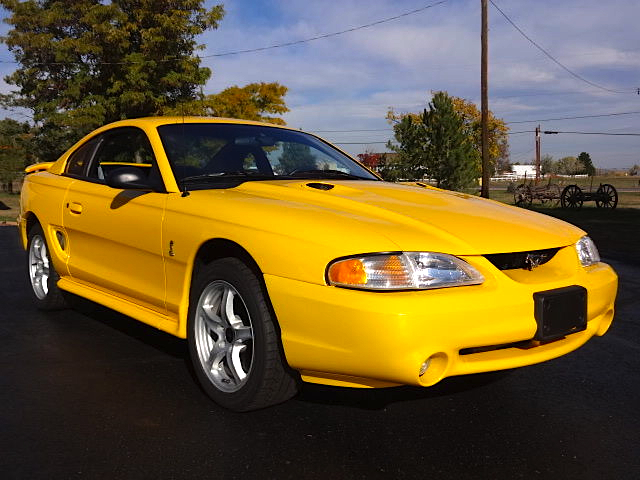 Not So Mellow Yellow 98 Ford Mustang SVT Cobra Mint2Me