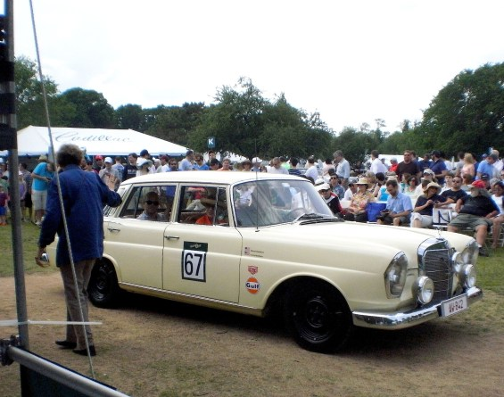 Our turn at the judges tent during the Greenwich Concours