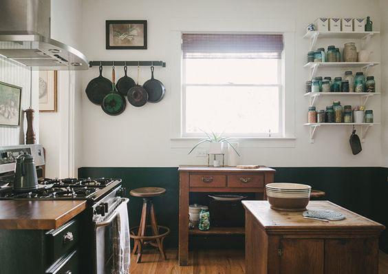 Cozinha de Campo a duas cores