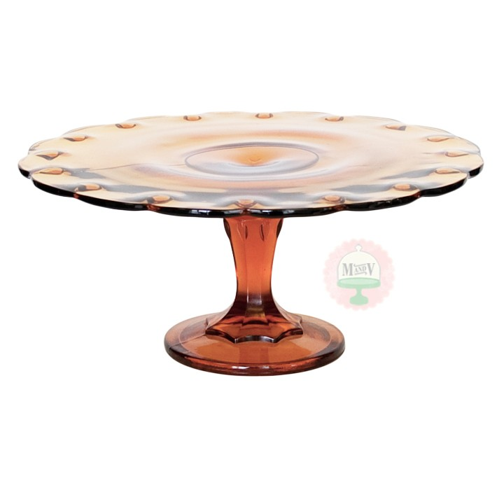 Dark Amber Teardrop Cake Stand  Cake Stands  Categories
