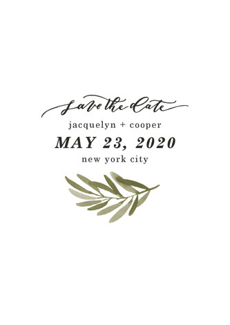Olive Branch Save The Date Postcards by Wildfield Paper Co