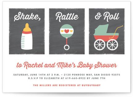 Shake, Rattle & Roll Invitations