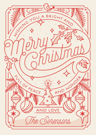 Merry Little Lines Holiday Cards By GeekInk Design Minted