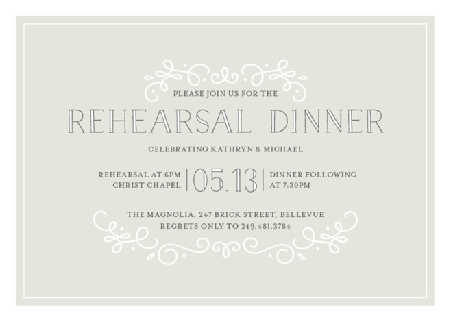 Sophisticate Rehearsal Dinner Invitations by Jessica