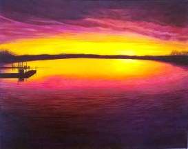 Boyds Lake at Sunset - Acrylic