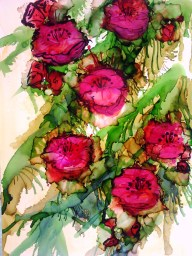 Wild Roses - Alcohol Ink