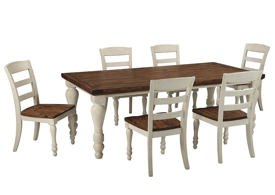 Marsilona Rectangular Dining Table W 6 Chairs Ashley Furniture Homestore Independently Owned And Operated By Best Furn Appliances I