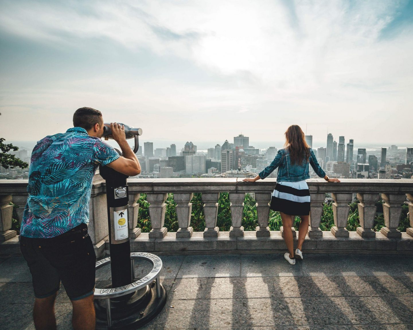 See the best aerial view of Montreal at Mont Royal - by @danandnatty