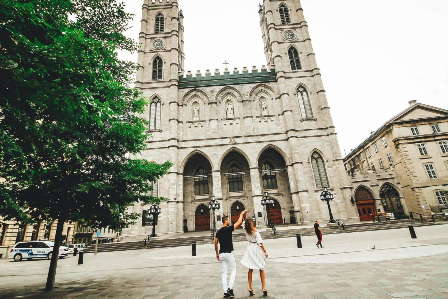 Old Montreal day tour near Notre Dame - by @danandnatty