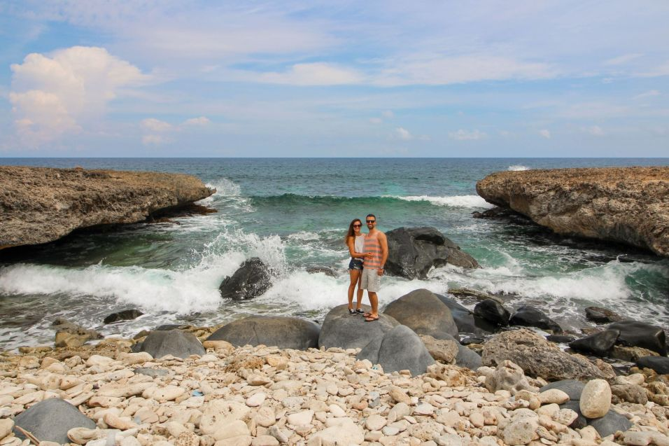 Couple on Rocky Beach in Aruba