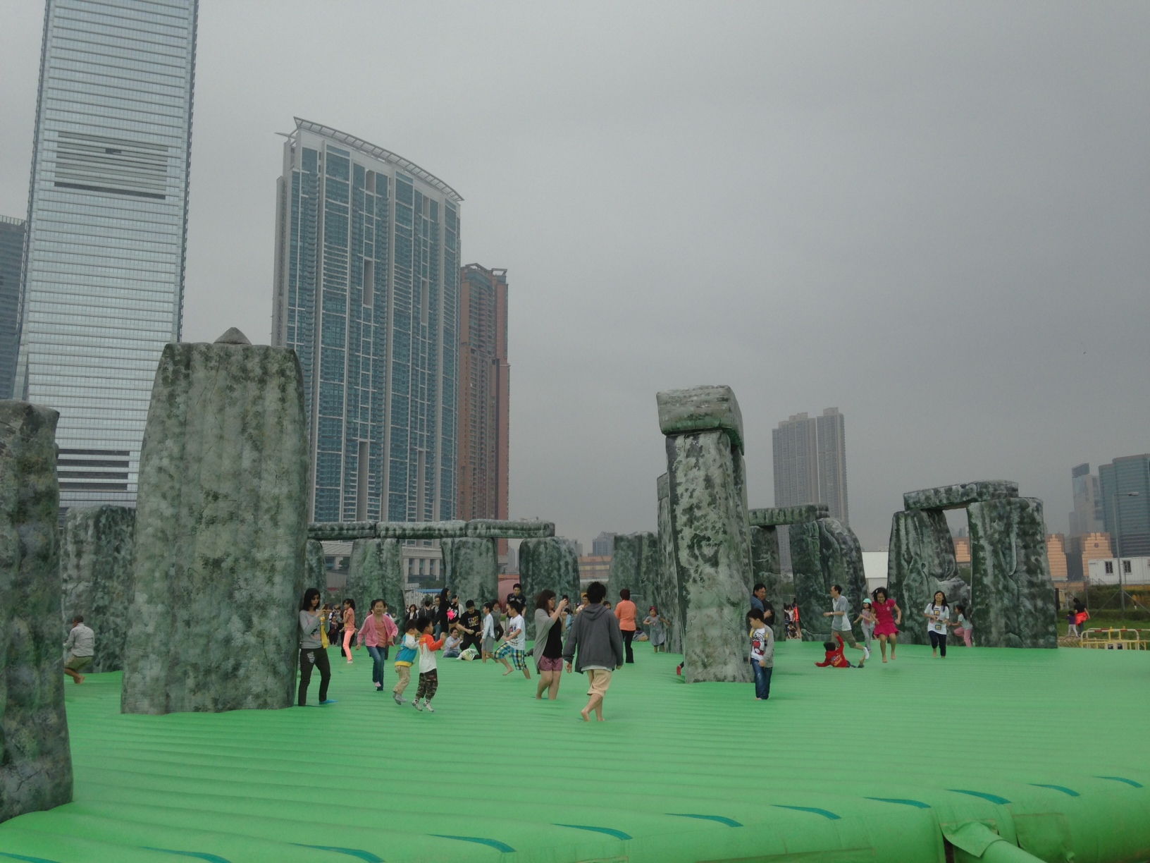 Bouncy castle Stonehenge in Hong Kong