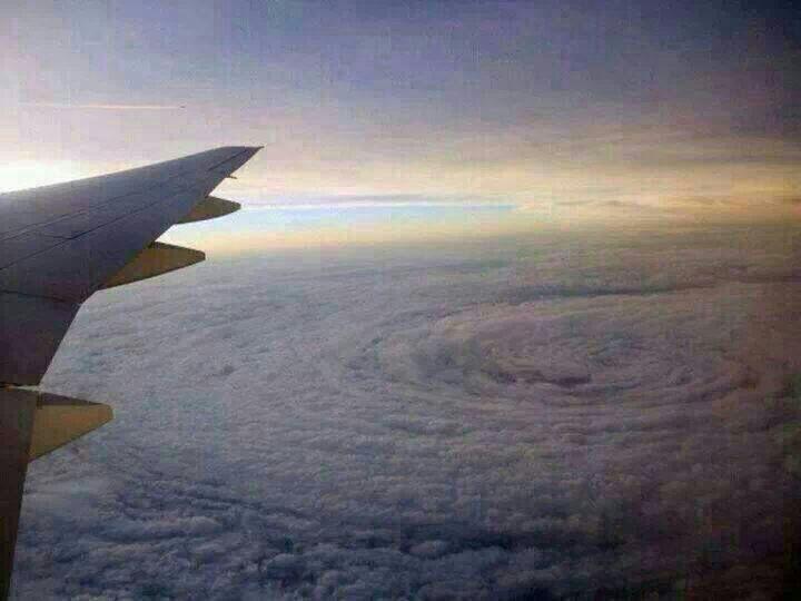 A flight as Typhoon Usagi approaches Hong Kong