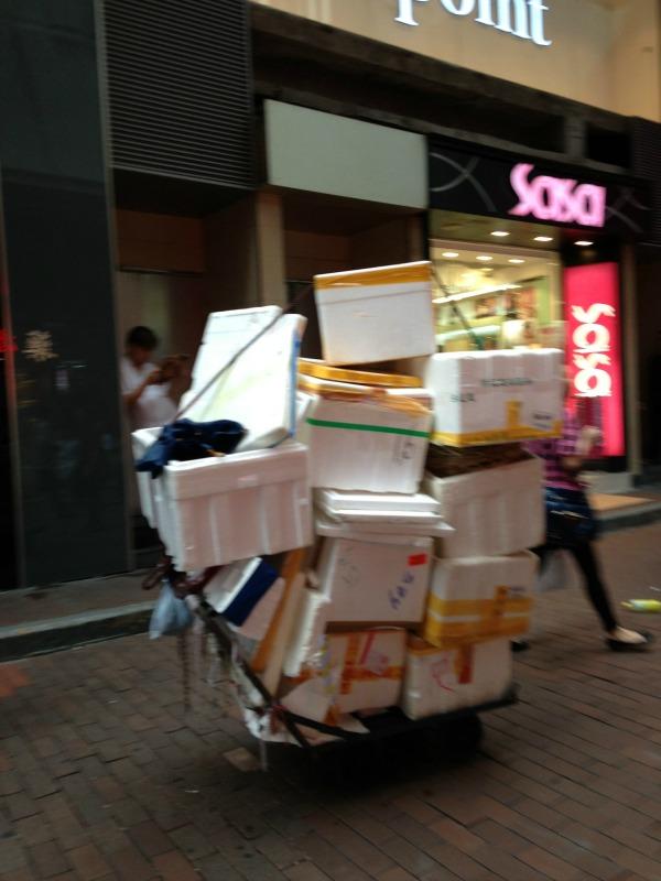 Carts in Mongkok Hong Kong