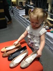 Shoe Shopping toddler