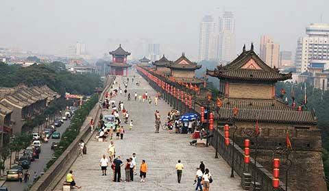 Xian City Wall Mint Mocha Musings