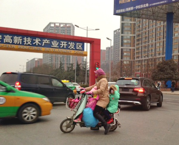 China: I thought this cute & colourful trio brightened up a dull morning!